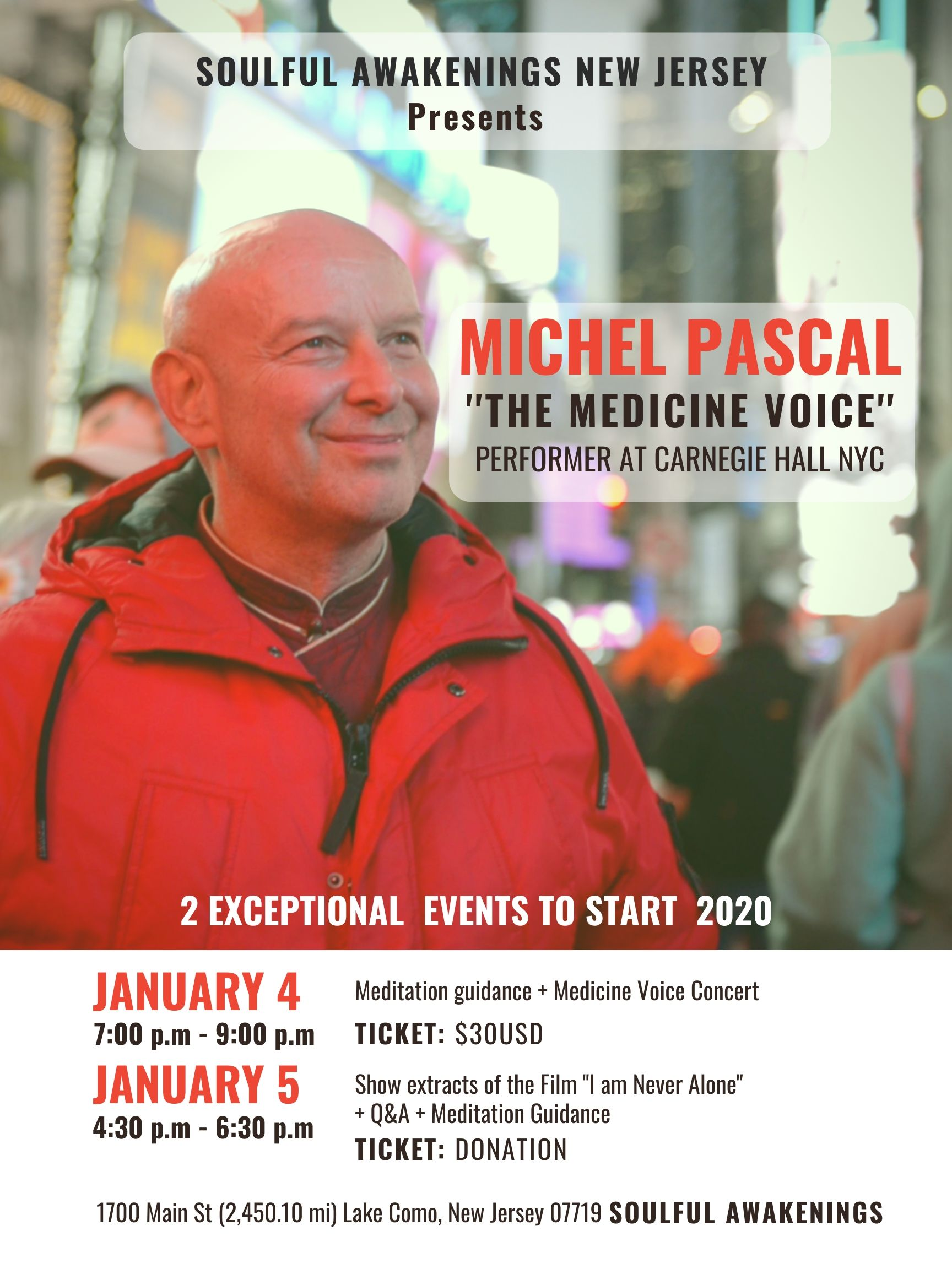 Michel Pascal New Jersey jan 4 and 5