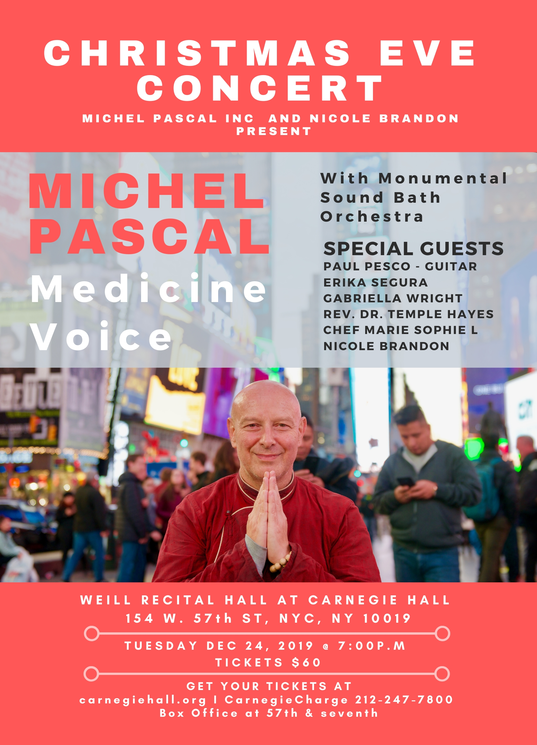 Michel Pascal Poster Carnegie hall dec 24
