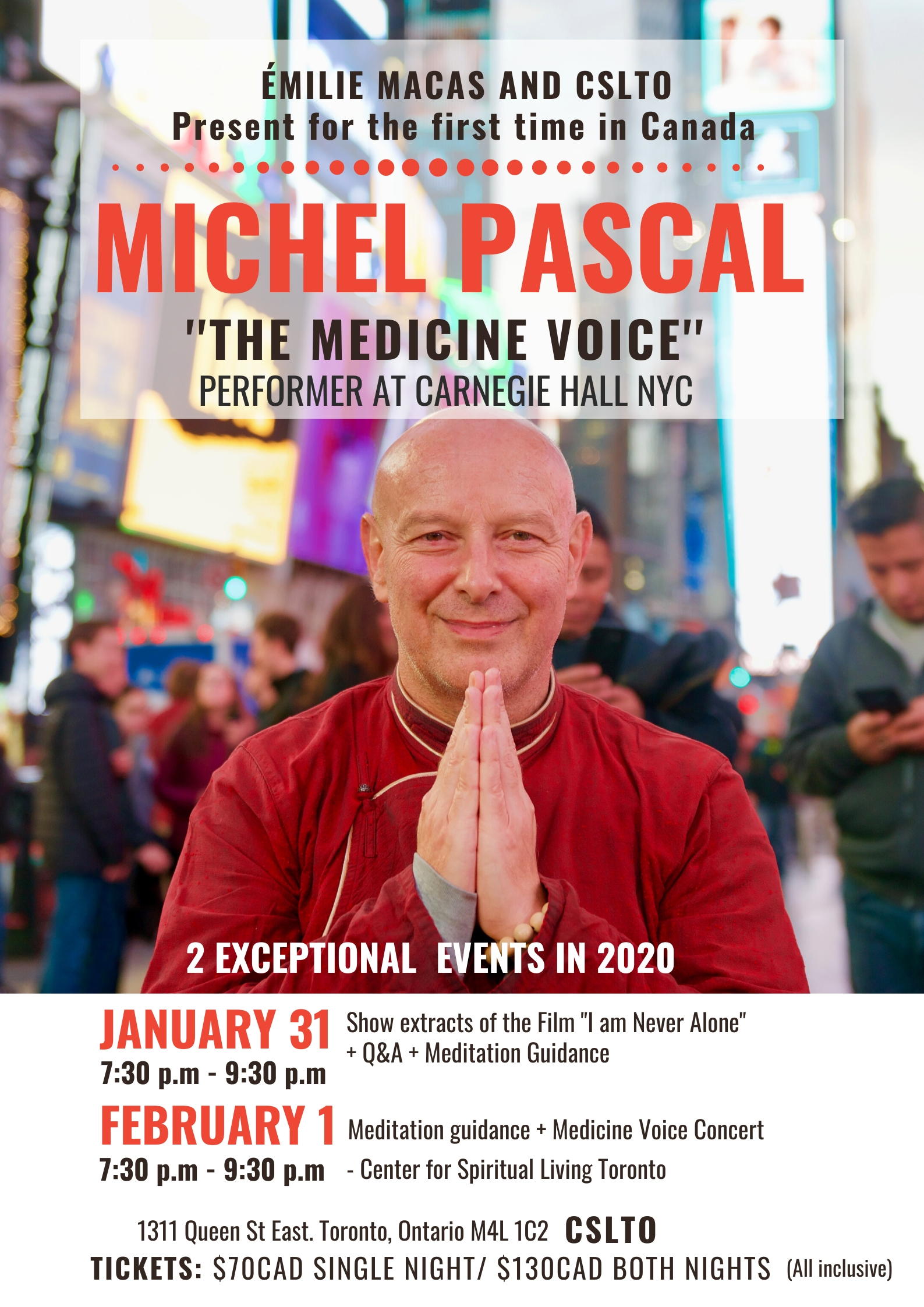 Michel Pascal at center for spiritual living toronto