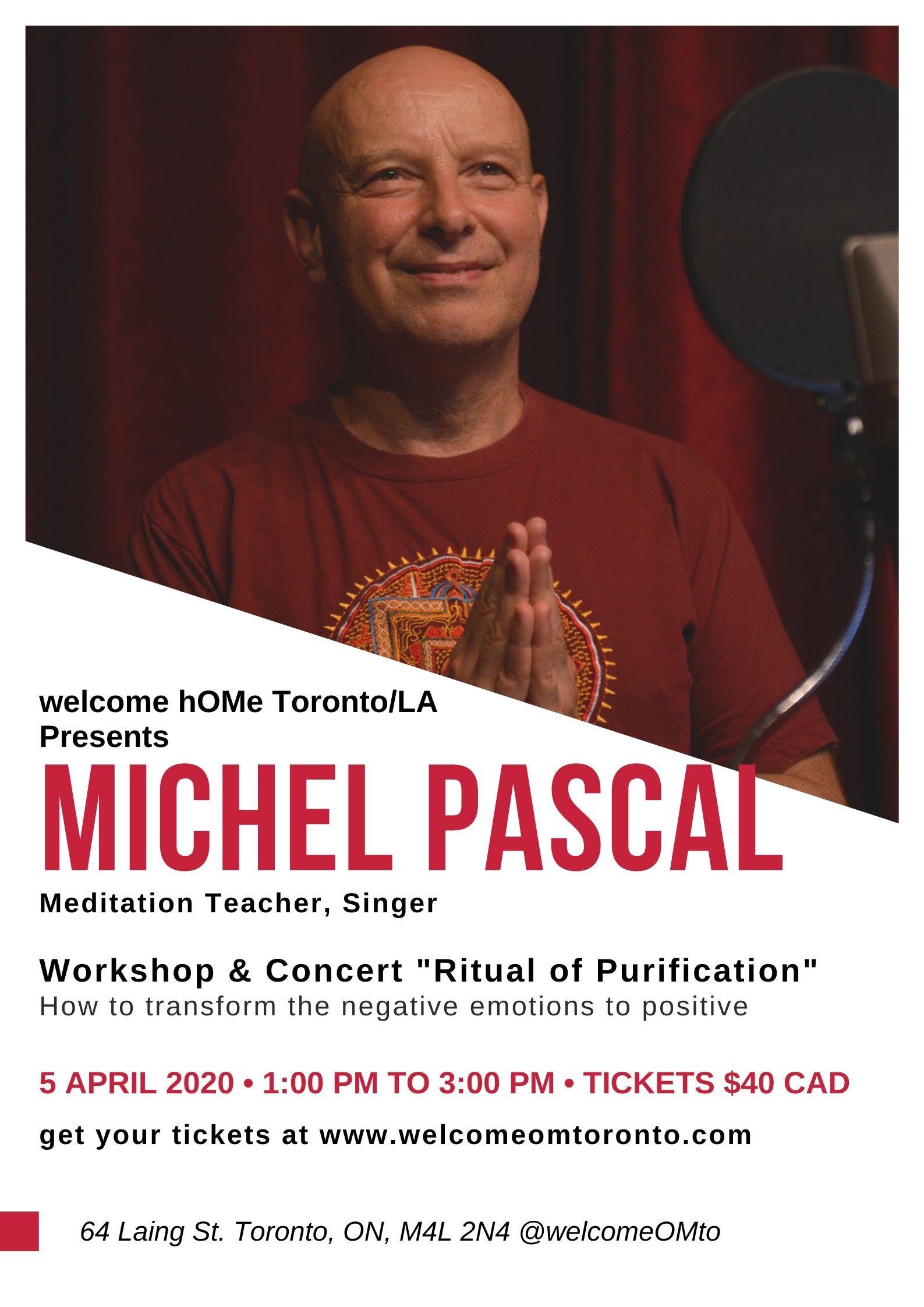 Michel Pascal welcome hOMe Toronto_LA APRIL 5