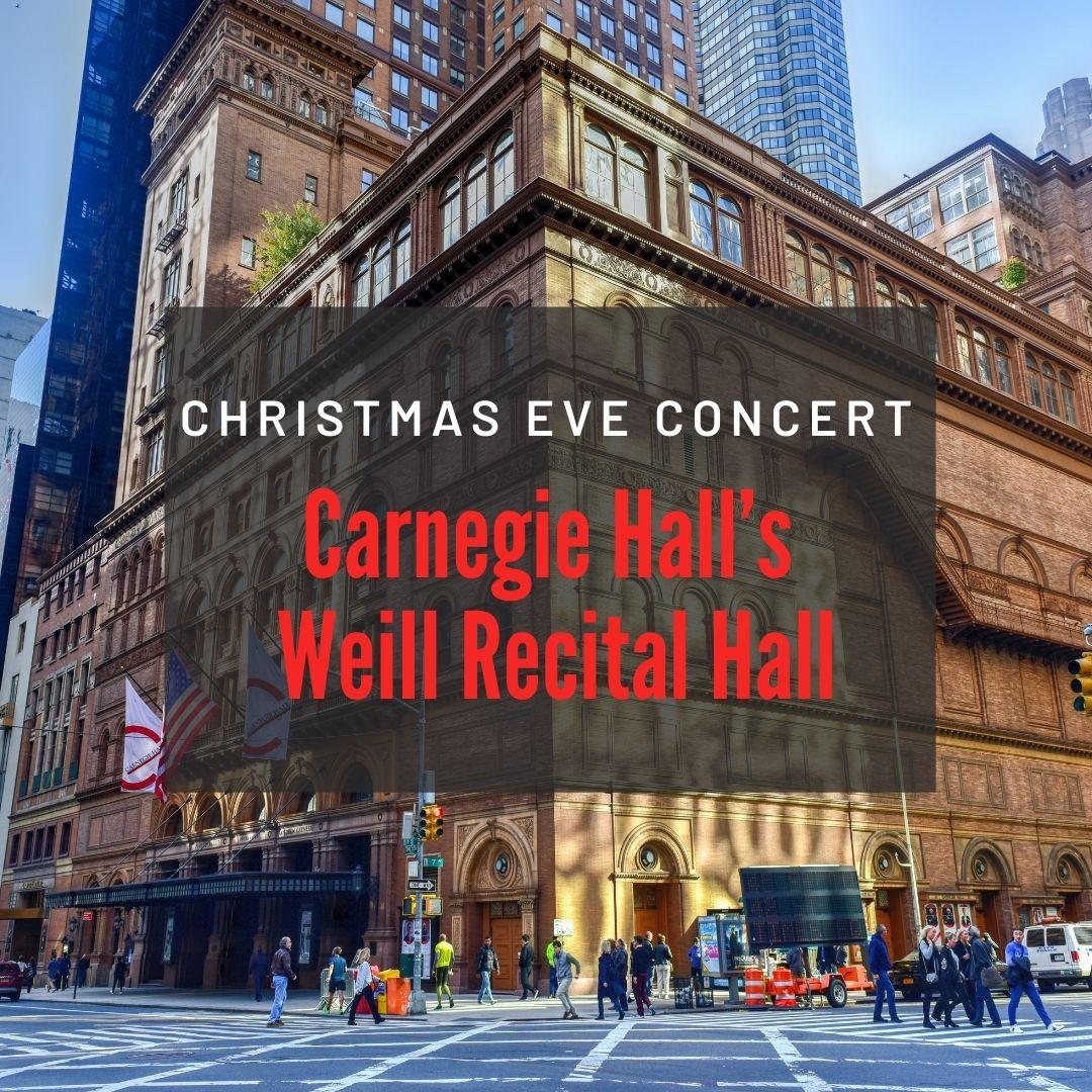 Carnegie Hall Michel Pascal christmas Eve 2021